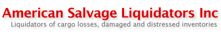 American Salvage Liquidators - Liquidators of cargo losses, damaged and distressed inventories.